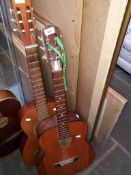A Constanza Classic and one other acoustic guitars.