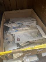 A box of stamps and FDC's