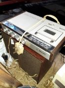 Vintage Phillips cassette recorder and speakers