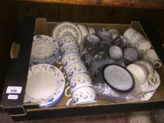 Teaware by Doulton, Duchess etc together with Hornsea Contrast coffee ware
