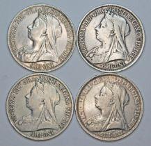 Victoria (1837-1901), four crowns, 1893.