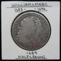 William + Mary (1688-1694), half crown, primo, 1689.