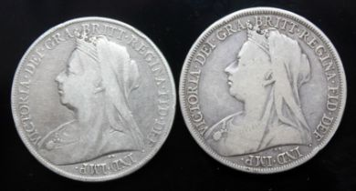 Victoria (1837-1901), Two crowns, 1899.