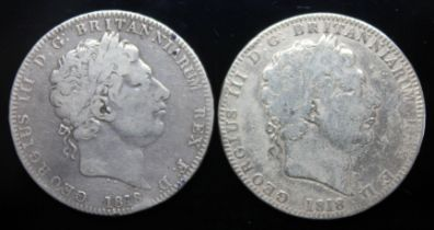 George III (1760-1820), two crowns, 1818.