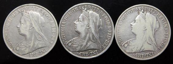 Victoria (1837-1901), three crowns, 1900.