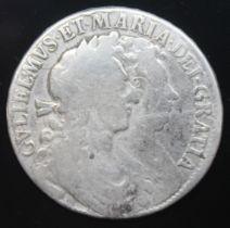 William + Mary (1688-1694), half crown, 1689.