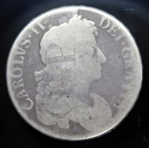 Charles II (1660-1685), crown, 1673, quinto, counter-marked.