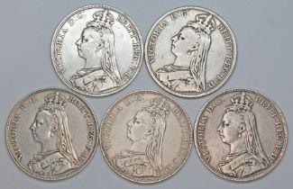 Victoria (1837-1901), five crowns, 1890.
