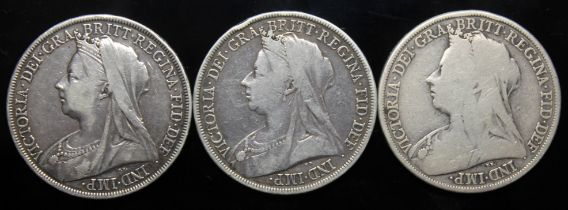 Victoria (1837-1901), three crowns, 1894.