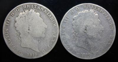 George III (1760-1820), two crowns, 1819.