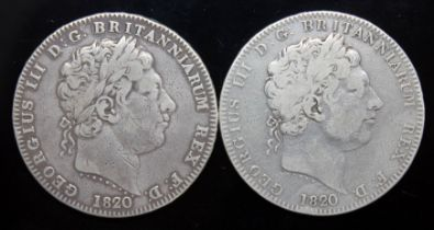 George III (1760-1820), two crowns, 1820.
