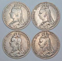 Victoria (1837-1901), four crowns, 1892.