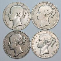 Victoria (1837-1901), four crowns, 1845, cinq stops.