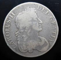 Charles II (1660-1685), crown, 1676, 3rd bust, octavo.