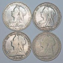 Victoria (1837-1901), four crowns, 1897.