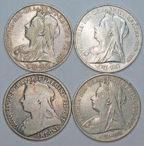 Victoria (1837-1901), four crowns, 1900.
