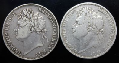 George IV (1820-1830), two crowns, 1821.