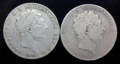 George III 91760-1820), two crowns, 1819.
