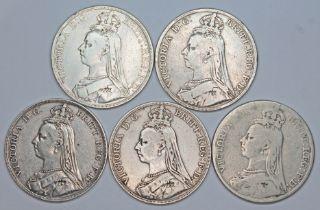 Victoria (1837-1901), five crowns, 1889.