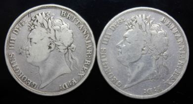 George IV (1820-1830), two crowns, 1822, secundo and tertio.