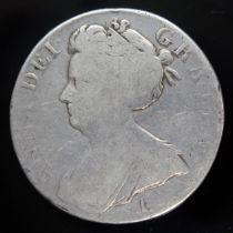 Anne (1702-1714), crown, 1707, E below bust, sexto.