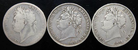 George IV (1820-1830), three crowns, 1822, tertio.