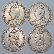 Victoria (1837-1901), four crowns, 1891.