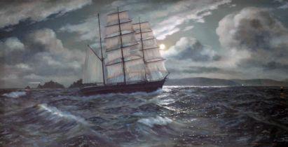 Neville Henderson (died 2020), Irish 20th century school, 'Passing the light', oil on board,