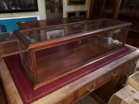 A Victorian mahogany table top cabinet, length 106cm.