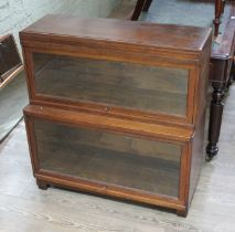 A Globe-Wernicke two part sectional bookcase.