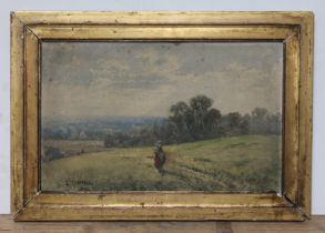 19th century school, country scene, watercolour, signed 'L Chappell' and dated 1877 to lower left,