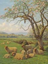 """William Sidney Cooper (1854-1927), """"Spring Blossom"""", oil on canvas, signed and dated 1919, 50.5cm"""