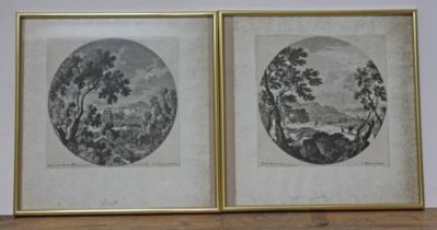 A group of five Gabrie Perelle (1603-1677) prints, two approx. 20cm x 20cm and two others smaller.