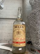 A 4.5 L Bell's whisky bottle.