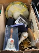 """A box of ceramics, china, etc to include boxed Royal Worcester """"Nelson Imari""""."""