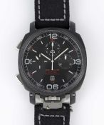 A GENTLEMAN'S BLACK PVD COATEDSTAINLESS STEEL ANONIMO MILITARE CRONO AUTOMATIC CHRONOGRAPH WRIST