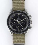 A GENTLEMAN'S STAINLESS STEEL RHODESIAN MILITARY AIR FORCE OMEGA SPEEDMASTER PROFESSIONAL
