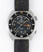 A GENTLEMAN'S STAINLESS STEEL AQUASTAR BENTHOS 500 DIVERS WRIST WATCH CIRCA 1960s, REF. 1002