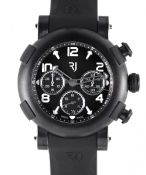 A GENTLEMAN'S CERAMIC ROMAIN JEROME ARRAW MARINE AUTOMATIC CHRONOGRAPH WRIST WATCH DATED 2019, REF.