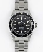 A GENTLEMAN'S STAINLESS STEEL ROLEX OYSTER PERPETUAL SUBMARINER BRACELET WATCH CIRCA 1961, REF. 5512