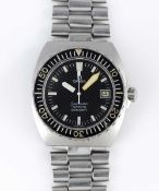"A RARE GENTLEMAN'S STAINLESS STEEL OMEGA SEAMASTER 120M AUTOMATIC ""BABY PLOPROF"" BRACELET WATCH"