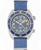 A GENTLEMAN'S STAINLESS STEEL AQUASTAR BENTHOS 500 DIVERS WRIST WATCH CIRCA 1970, REF. 1002 WITH