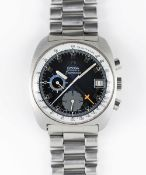 A GENTLEMAN'S STAINLESS STEEL OMEGA SEAMASTER AUTOMATIC CHRONOGRAPH BRACELET WATCH CIRCA 1973,