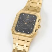 "A FINE & RARE GENTLEMAN'S LARGE SIZE 18K SOLID GOLD & DIAMOND AUDEMARS PIGUET ROYAL OAK ""SQUARE"""