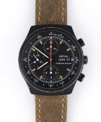 A GENTLEMAN'S PVD COATED ORFINA PORSCHE DESIGN AUTOMATIC CHRONOGRAPH WRIST WATCH CIRCA 1970s,