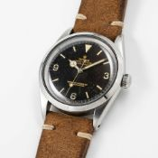 A GENTLEMAN'S STAINLESS STEEL ROLEX OYSTER PERPETUAL EXPLORER WRIST WATCH CIRCA 1964, REF. 1016 WITH