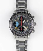 "A GENTLEMAN'S STAINLESS STEEL OMEGA SPEEDMASTER ""MK40"" TRIPLE CALENDAR AUTOMATIC CHRONOGRAPH"