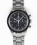 "A GENTLEMAN'S STAINLESS STEEL OMEGA SPEEDMASTER PROFESSIONAL ""MOON WATCH"" CHRONOGRAPH BRACELET WATCH"
