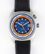 A RARE GENTLEMAN'S STAINLESS STEEL GLYCINE ASTROLUX AIRMAN SST SPORT AUTOMATIC WRIST WATCH CIRCA