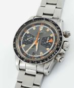 """A VERY RARE GENTLEMAN'S STAINLESS STEEL TUDOR OYSTERDATE """"HOMEPLATE"""" CHRONOGRAPH BRACELET WATCH"""